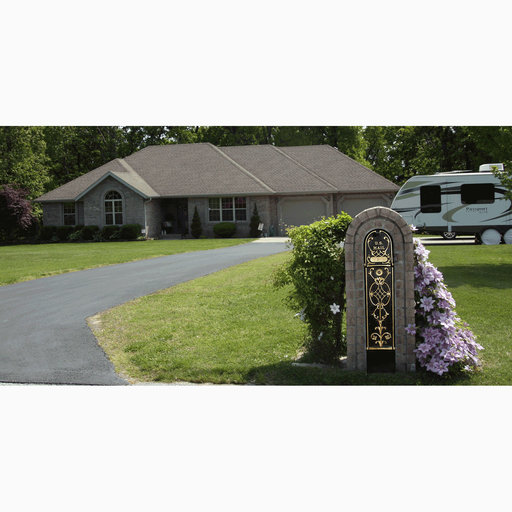 View a Larger Image of MailKeeper Locking Mailbox with Classic Design Front and Front / Rear Mail Retrieval Door - Black