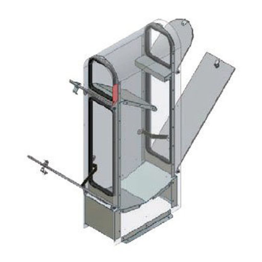 View a Larger Image of MailKeeper Locking Mailbox with Classic Design Front and Front / Rear Mail Retrieval Door - Silver