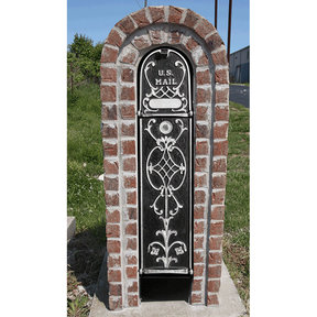 MailKeeper Locking Mailbox with Old English Design Front and Front / Rear Mail Retrieval Door - Silver