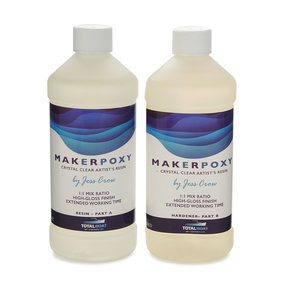 MakerPoxy Crystal Clear Artist Resin by Jess Crow - Quart
