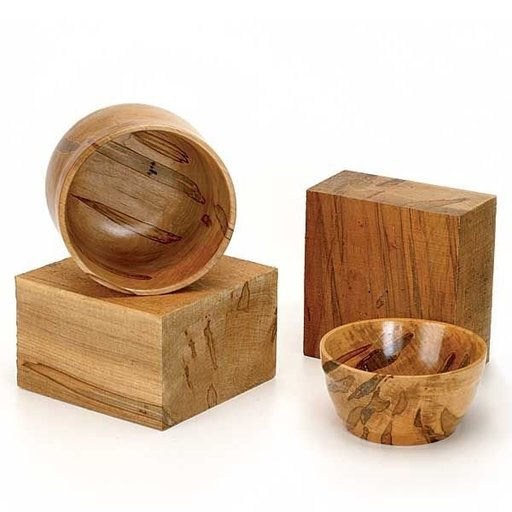 """View a Larger Image of Maple, Ambrosia 4"""" x 8"""" x 8"""" Wood Turning Stock"""