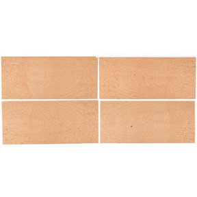 """Maple, Birdseye Wood Veneer - 8"""" x 18"""" - 4 Pack"""