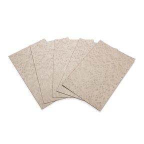 """Maple, Birdseye Engineered Veneer Dyed Grey 4-1/2"""" - 7-1/2"""" Width 3sq ft Pack"""