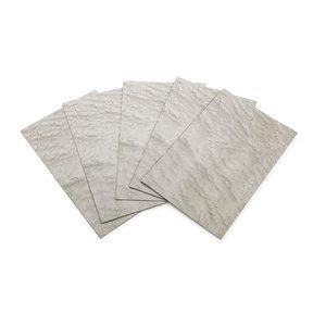 """Maple, Birdseye Veneer Dyed Grey 4-1/2"""" - 7-1/2"""" Width 3sq ft Pack"""