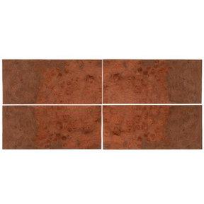 """Maple Burl Wood Veneer - 8"""" x 18"""" - 4 Pack"""