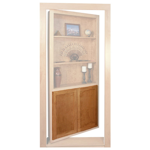 View a Larger Image of Maple Flat Panel Accessory Doors for 32 in. InvisiDoor Bookcase Door