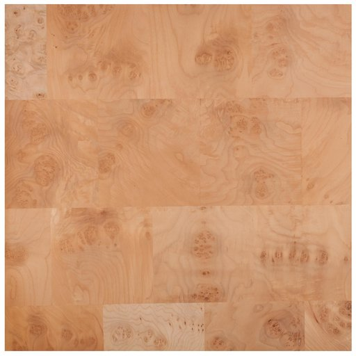 """View a Larger Image of Maple Burl 24"""" x 24"""" 2ply Wood on Wood Patchwork Wood Veneer"""