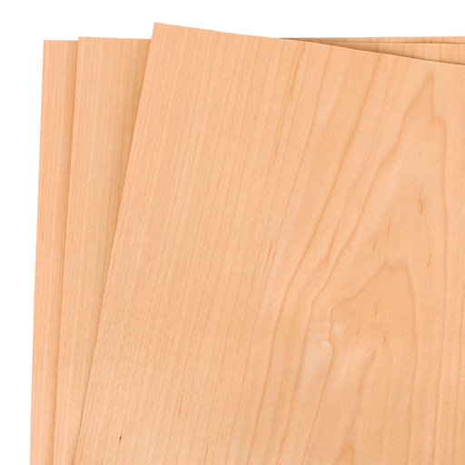 """View a Larger Image of Maple Wood Veneer Pack - 12"""" x 12"""" - 3 Piece"""