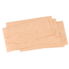 """Maple Wood Veneer - 4-1/2"""" to 6-1/2"""" Width - 3 Square Foot Pack"""
