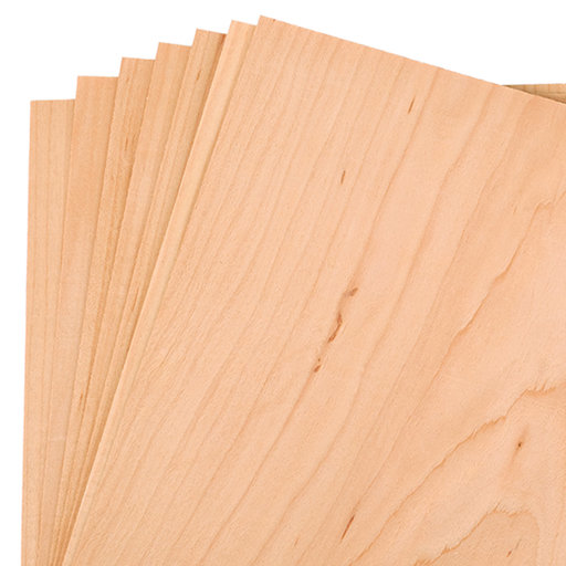 """View a Larger Image of Maple Wood Veneer Pack - 8"""" x 8"""" - 7 Piece"""