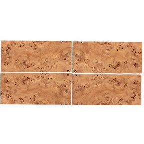 "Mappa Burl Sequence Matched Wood Veneer - 8"" x 18"" - 4 Piece"