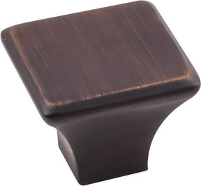 """Marlo Large Knob, 1-1/4"""" O.L.,  Brushed Oil Rubbed Bronze"""