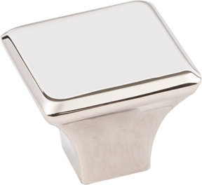 "Marlo Large Knob, 1-1/4"" O.L.,  Polished Nickel"