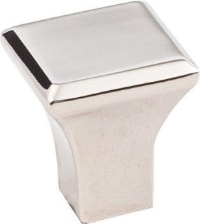 "Marlo Small Knob, 7/8"" O.L., Polished Nickel"