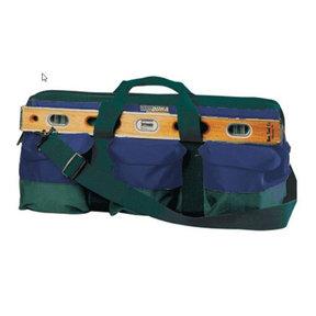 "Mason Tool Bag Green/Blue 24"" X 10"" X 11"""
