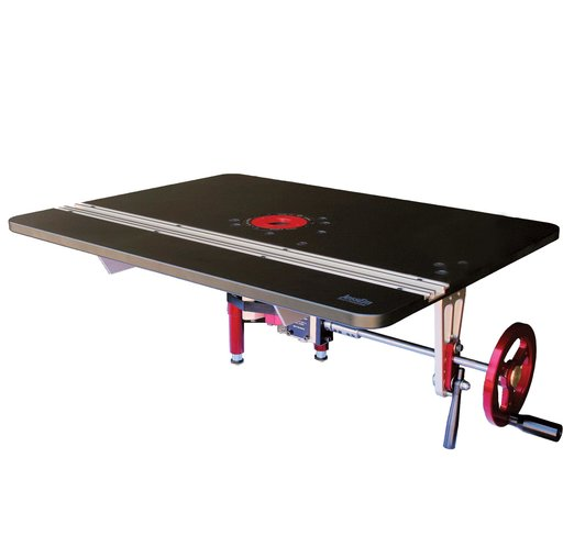 View a Larger Image of Mast-R-Lift Excel II Router Table Top With Integral Router Lift, JessEm# 02202
