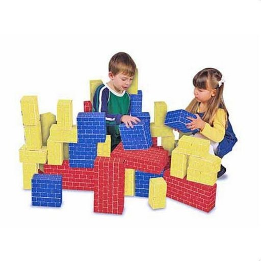 View a Larger Image of Deluxe Jumbo Cardboard Blocks, 40-Piece