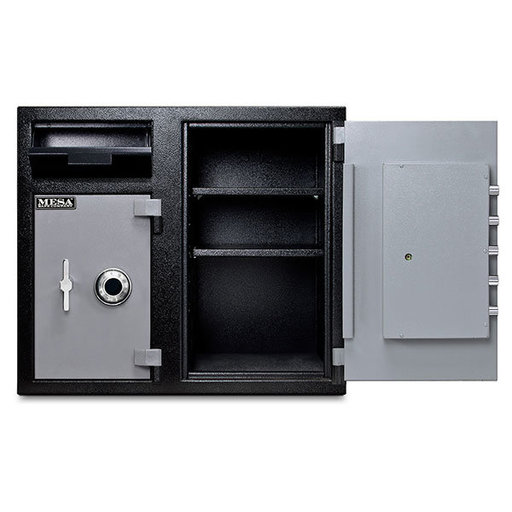 View a Larger Image of Mesa Depository Safe with Two Combination Locks, 6.7 cu. ft., Black and Gray, Model MFL2731CC