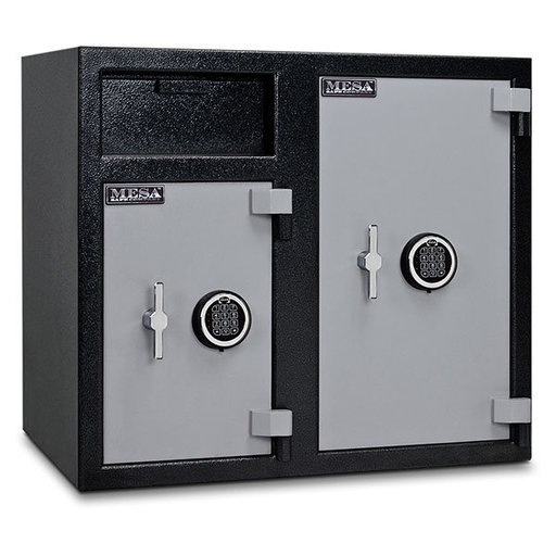 View a Larger Image of Mesa Depository Safe with Two Electronic Locks, 6.7 cu. ft., Black and Gray, Model MFL2731EE