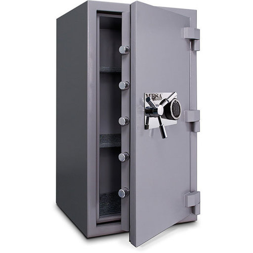 View a Larger Image of Mesa High Security Burglary Fire Safe with Electronic Lock, 4.4 cu. ft., Silver, Model MSC3820E