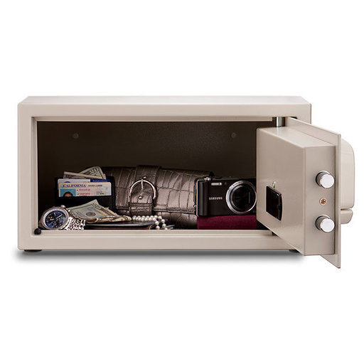 View a Larger Image of Mesa Hotel Safe with Electronic Lock,  1.2 cu. ft., Cream, Model MHRC916E-WHT