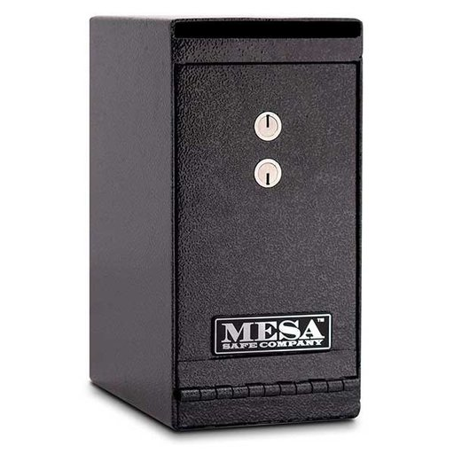 View a Larger Image of Mesa Vertical Undercounter Depository with Dual Key Lock, 0.2 cu. ft., Hammered Grey, Model MUC1K