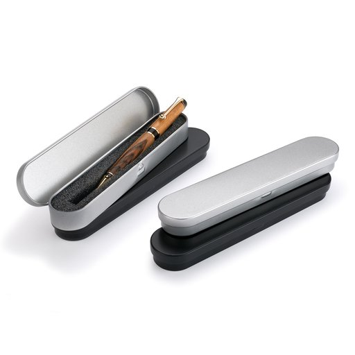 View a Larger Image of Metal Pen Boxes - Black & Gray - 4 pc.