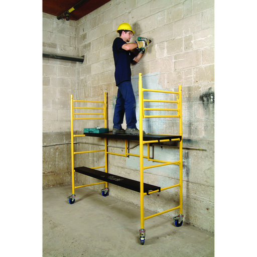 View a Larger Image of 6 Foot Maxi Round Mobile Work Scaffold, Model I-IRC
