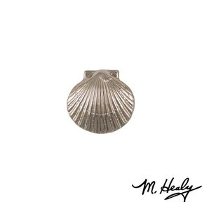 Bay Scallop Door Bell Ringer, Brushed and Polished Nickel