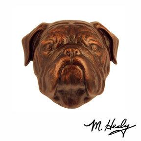 Dog Knockers Bulldog Door Knocker, Bronze