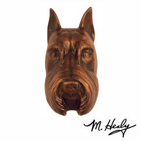 Dog Knockers Schnauzer Door Knocker, Bronze