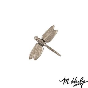 Dragonfly in Flight Door Bell Ringer, Brushed and Polished Nickel Silver