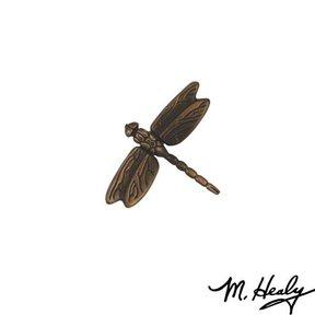 Dragonfly in Flight Door Bell Ringer, Oiled Bronze