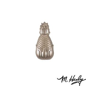 Hospitality Pineapple Door Bell Ringer, Brushed and Polished Nickel Silver