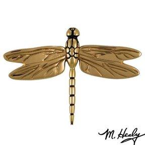 It's My Door! Dragonfly in Flight Door Knocker, Polished Brass and Bronze