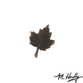 Maple Leaf Door Bell Ringer, Oiled Bronze