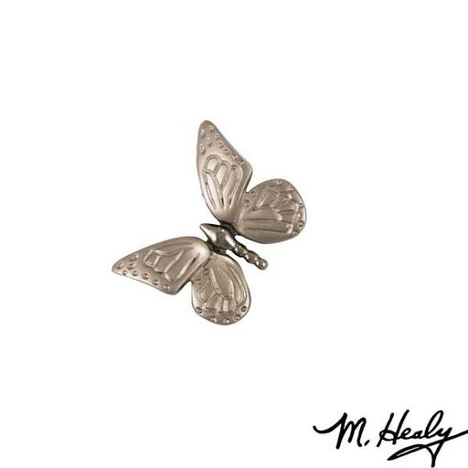 View a Larger Image of Monarch Butterfly Door Bell Ringer, Brushed and Polished Nickel Silver