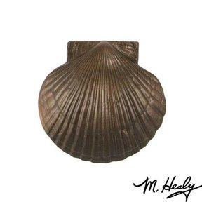Sea Scallop Door Knocker, Oiled Bronze