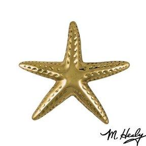 Starfish Door Knocker, Polished Brass