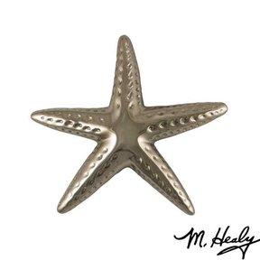 Starfish Door Knocker, Polished Nickel Silver