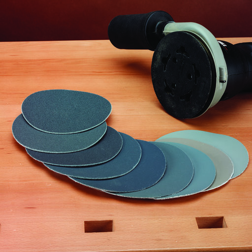 """View a Larger Image of 5"""" Hook and Loop Sanding Disc Assortment - 9 Piece"""