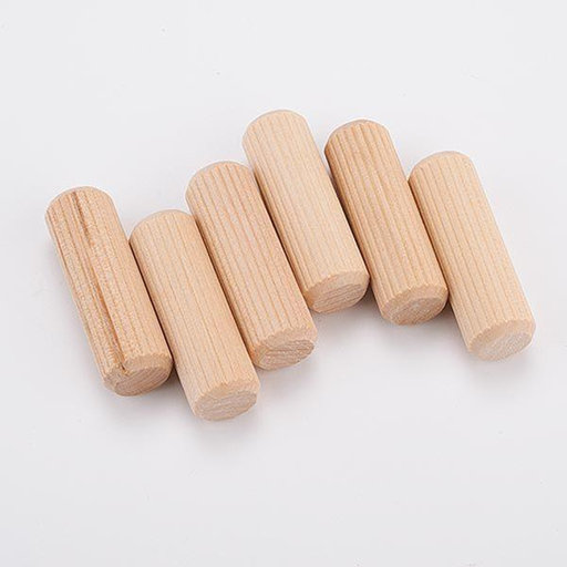 """View a Larger Image of 20 pc 1/2"""" x 1-1/2"""" Fluted Wooden Dowel Pins"""