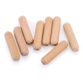"Fluted Wooden Dowel Pins - 3/8"" x 1-1/2"" - 30 Piece"