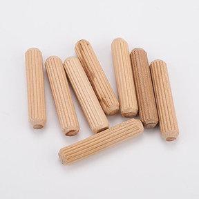 "Fluted Wooden Dowel Pins - 5/16"" x 1-1/2"" - 45 Piece"