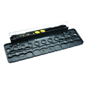 """CabinetMate Drilling Template With 1/4"""" Guided Drill Bit"""