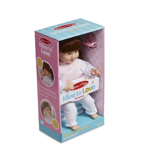 View a Larger Image of Mine to Love Brianna 12-Inch Soft Body Baby Doll with Hair and Outfit