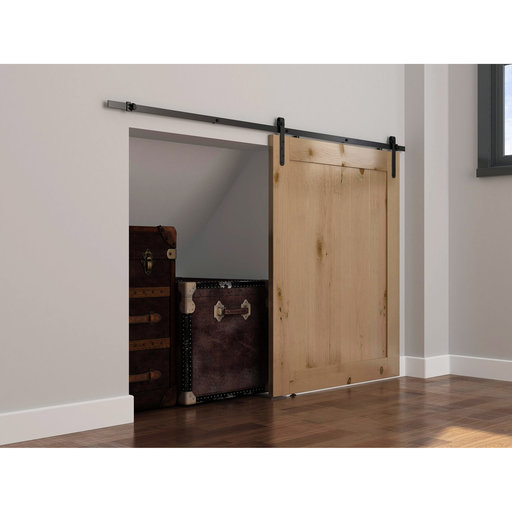View a Larger Image of Mini Flat Rail Barn Door Hardware - Surface Mount
