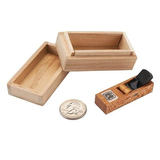 View a Larger Image of Miniature Japanese Hand Plane in Paulownia Box
