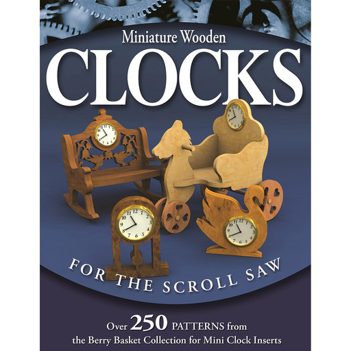 View a Larger Image of Miniature Wooden Clocks for the Scroll Saw