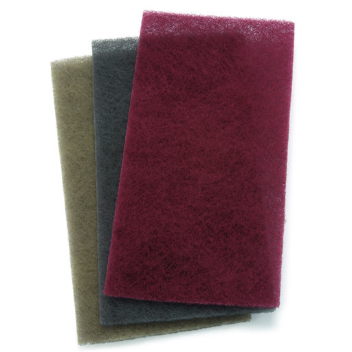 """View a Larger Image of 4-1/2"""" x 9"""" Mirlon Nonwoven Total Scuff Sanding Pad Assorted Grit 3 pk"""